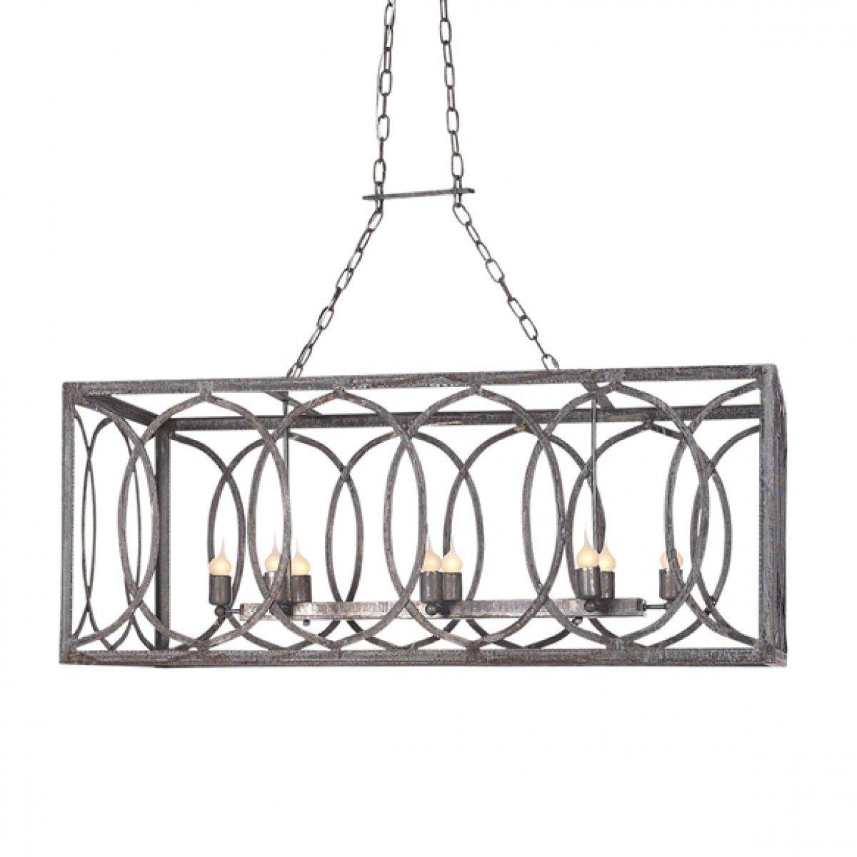 french iron charles rectangular chandelier 8 light pinterest