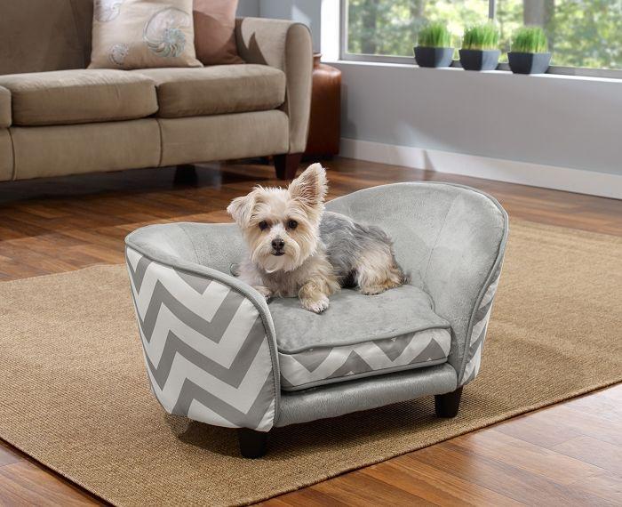 Ultra Plush Snuggle Chevron Dog Sofa Bed Snuggle Dog Pet Sofa
