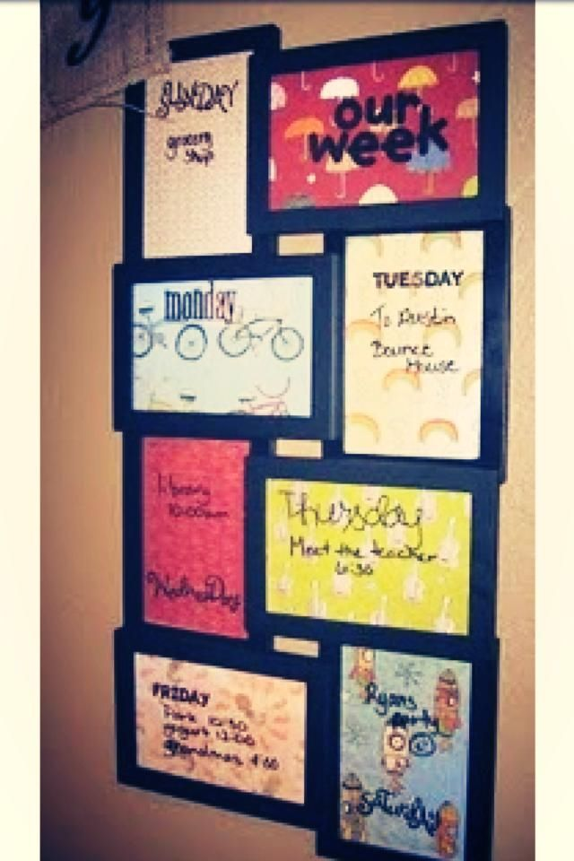 Need To Do This Weekly Planner Board