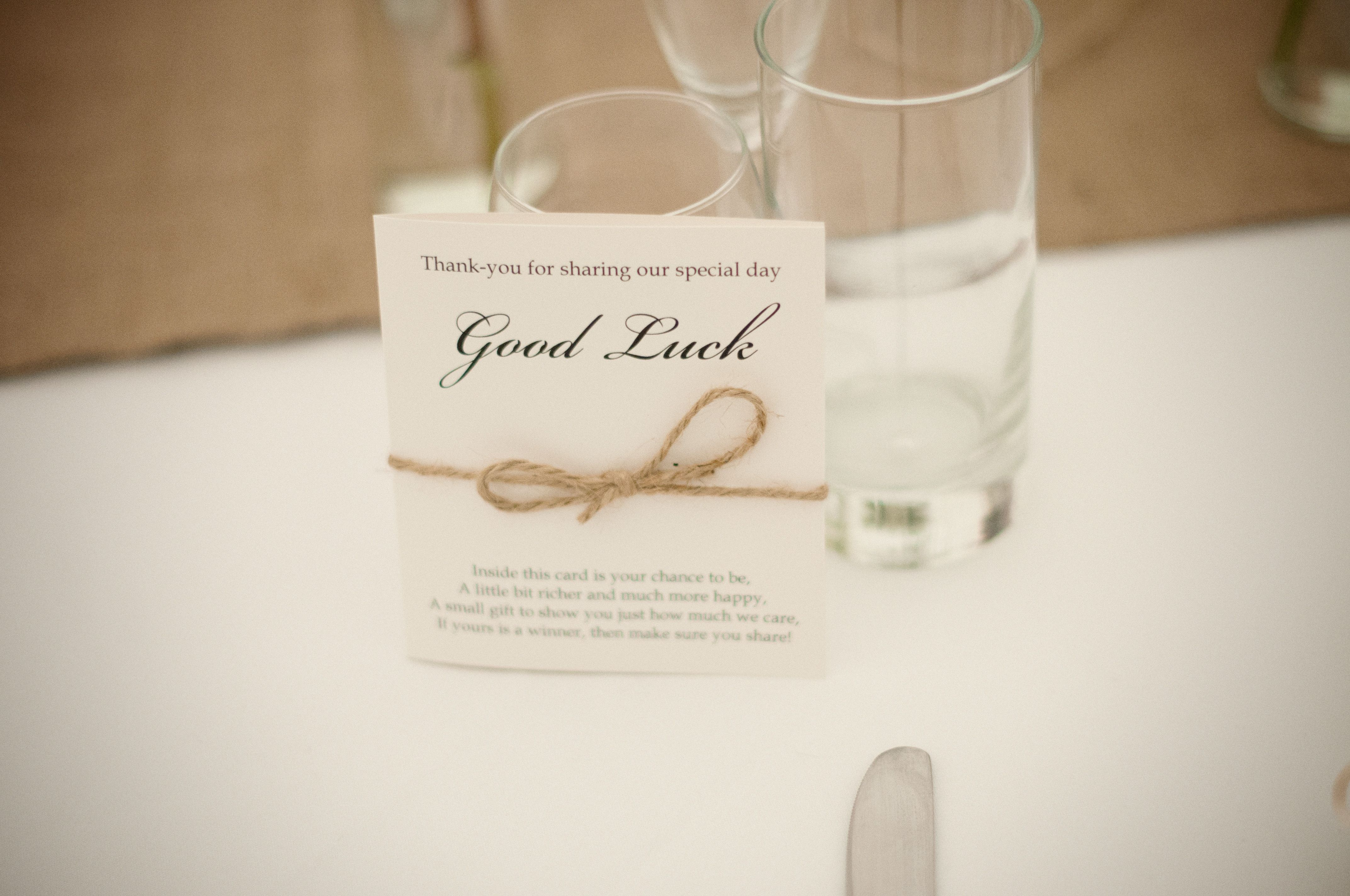 Wedding favours for guests! © Susie Lawrence Photography ...