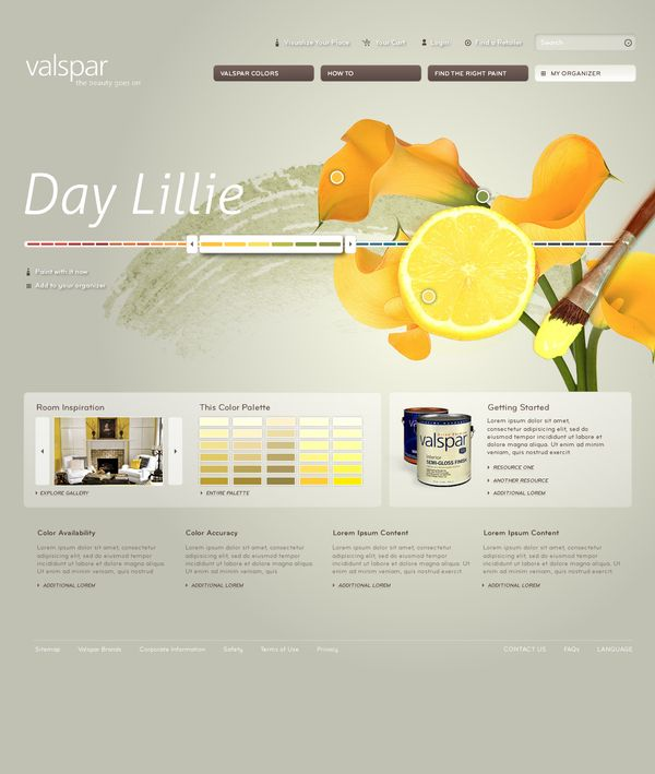 Valspar Site Redesign Concepts