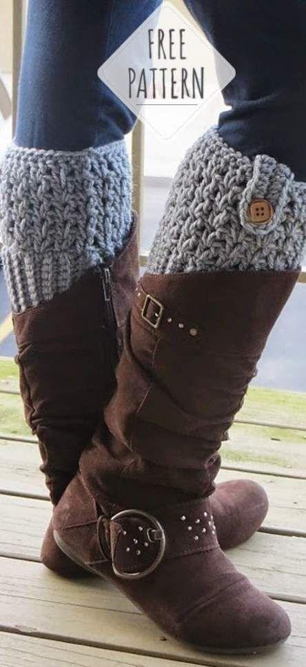 Crochet Patterns Bag Free Boot Cuffs 22+ Ideas For 2019 #bootcuffs
