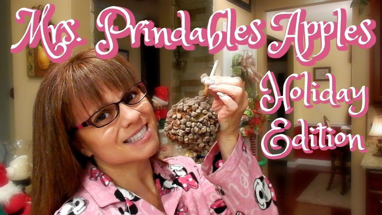 MRS. PRINDABLES GOURMET APPLES HOLIDAY UNBOXING 2017