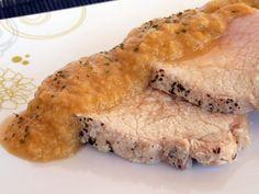 Una Fiera en mi cocina: Cinta de lomo de cerdo a la sal con salsa española