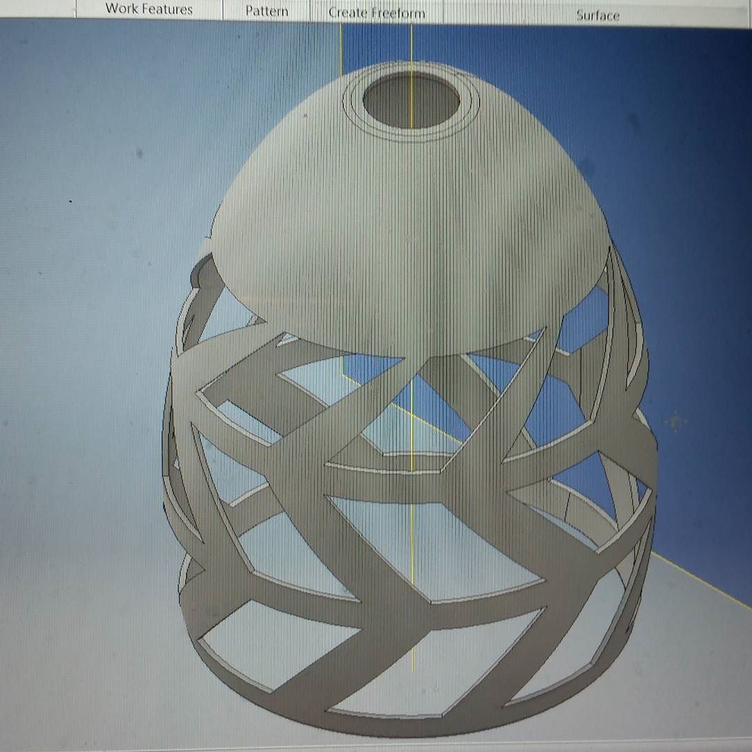 Hello everyone! I am thinking about doing 3D printed lamps and light pendants. What are people's opinions on this. Would you buy one or be interested... let me hear some consumer thoughts! Thank you! #3dprinting #design #productdesign #prototype #science #cad #inventor #lights #home #unique #uniquelamp #engineering #teamoceansky #makeraddictz #walt3d by walt3d