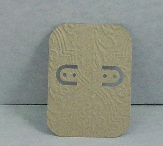 Embossed Gray Earring Cards Handmade Earring by BeadboardCorner