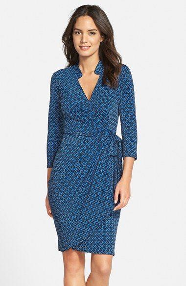 Maggy London Geo Print Wrap Dress (Regular & Petite) | Print ...