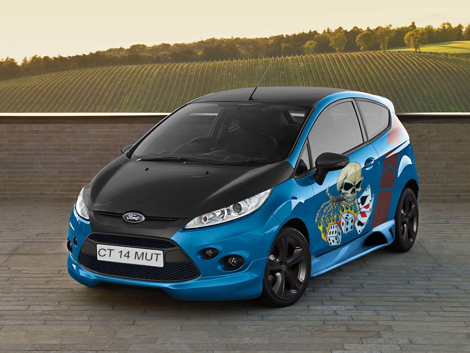 Modifikasi Ford Fiesta Biru