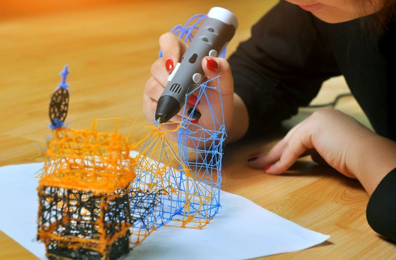 3D Stereoscopic Printing Pen - For 3D Drawing + Arts + Crafts Printing