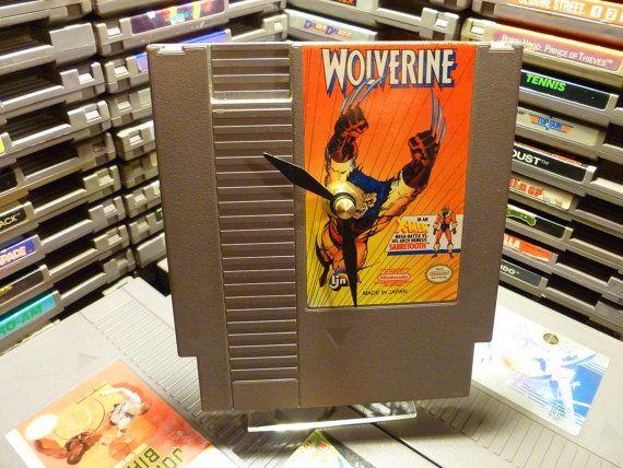 Wolverine Nintendo Desk Clock By Nerdyclocks On Etsy 29 00