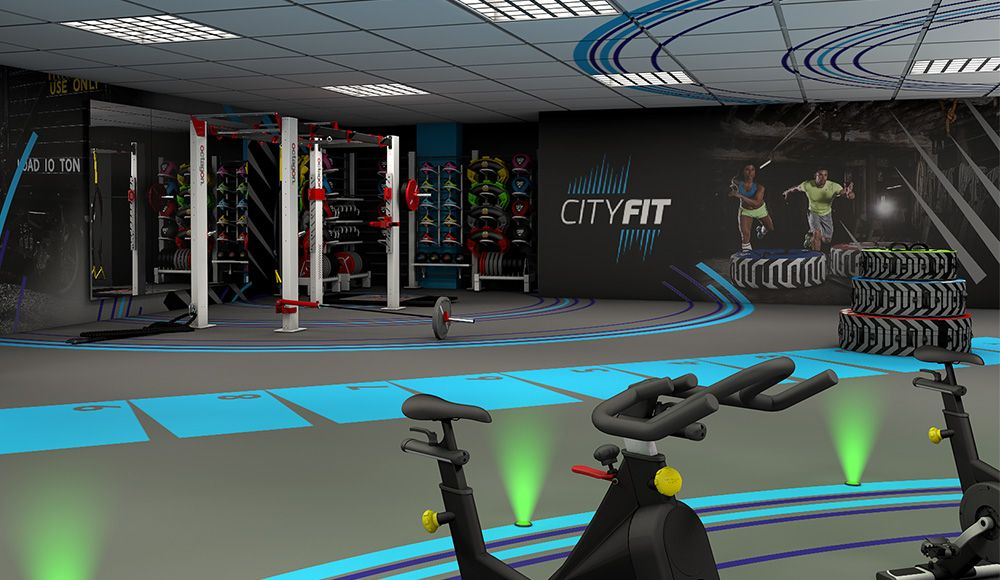 Gym Concepts And Design Escape Fitness Gym Sports Style Girl