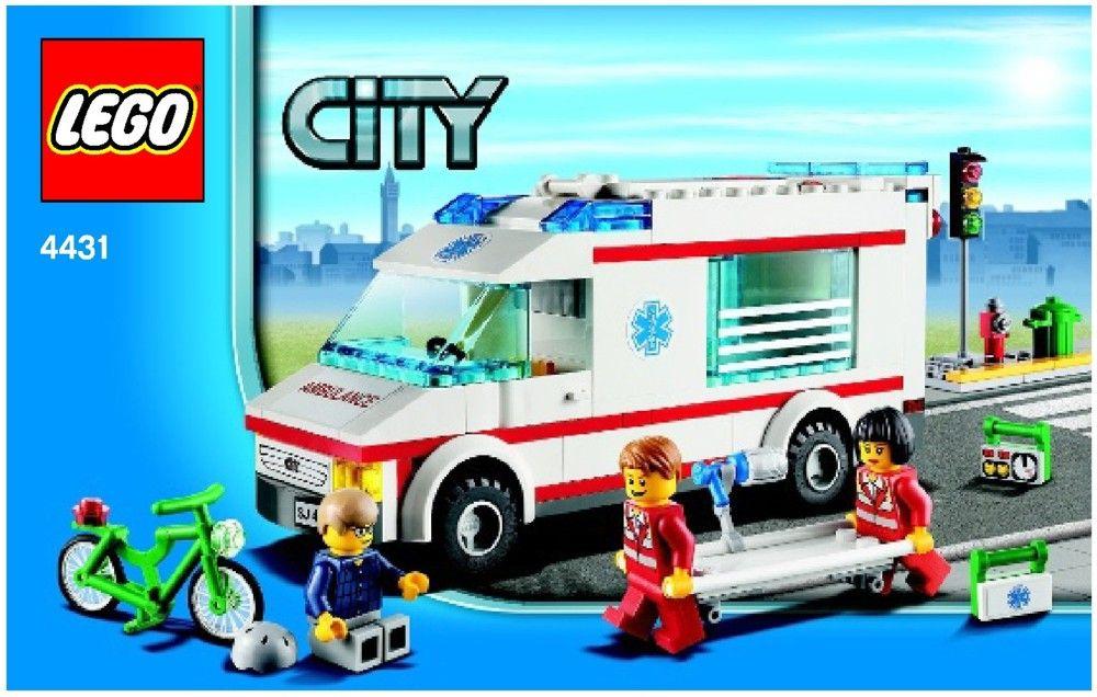 City Ambulance Lego 4431 Instructions Lego Friend City