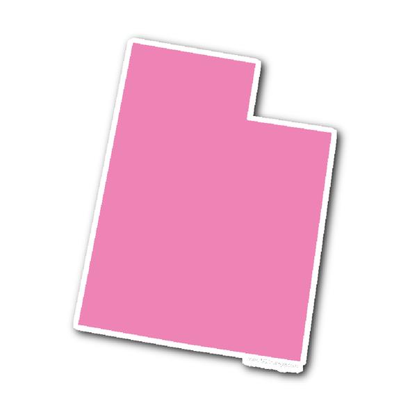 Utah State Shape Sticker Outline PINK