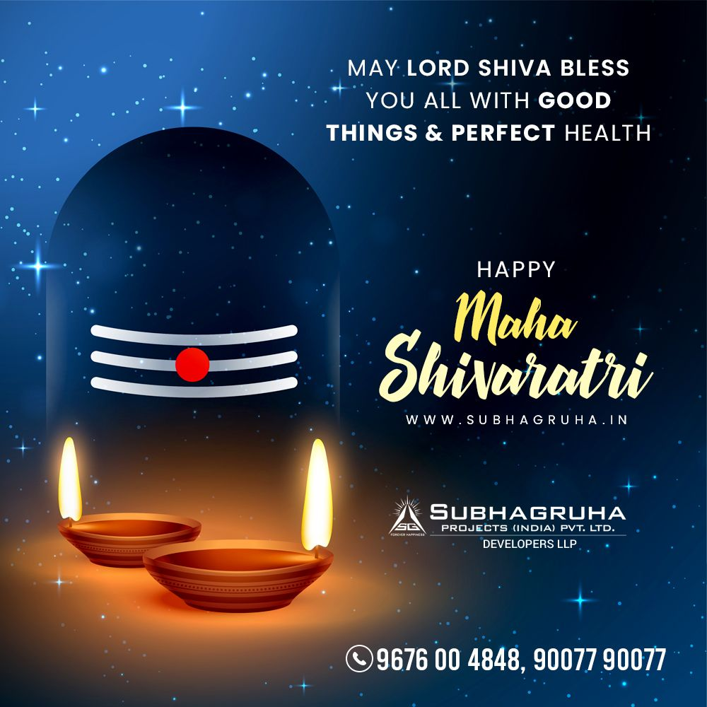 Subhagruha Projects wishes you and your Family that the Almighty Lord Shiva Bless all with Good Things and Perfect Health. Happy Maha Shivratri to All   #mahadev #shiva #mahakal #MahaShivratri #happymahashivratari #MahaShivRatri2020