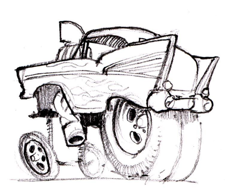 CARtoons and Hot Rods - Swanson Artworks | Coloring Book: CARtoons ...