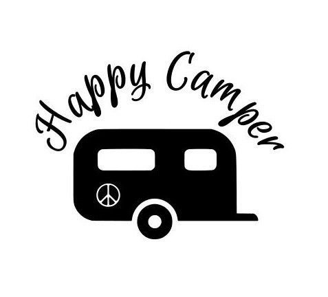 Happy Camper Vinyl Decals Stickers Camping By Scrapshackmetal Vinyl