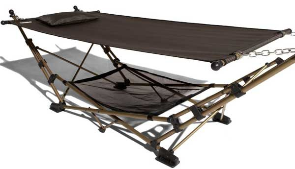 this portable hammock is extremely easy to set up and fold away making it a  fortable seating solution for     folding hammock   hammock   pinterest   garden furniture and gardens  rh   pinterest