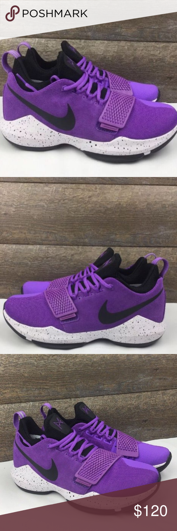 d30e3d6f7c7 Nike PG1 Paul George Basketball Shoes Nike PG1 Paul George Basketball Shoes  Bright Violet New Without