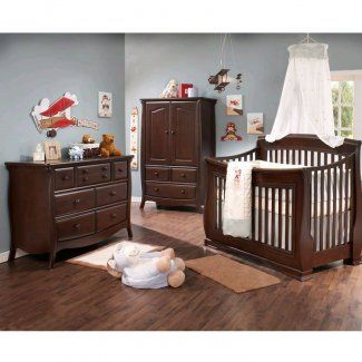 This Natart 3 piece set includes the crib to full-size convertible Bella Crib, double dresser and armoire. JPMA, CPSC & ASTM certified. Free shipping!