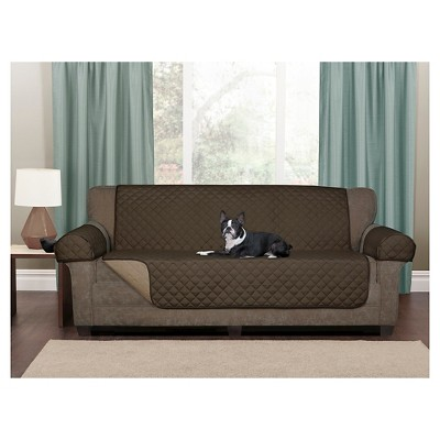 Cool Chocolate Reversible Pet Loveseat Cover Microfiber Sofa Alphanode Cool Chair Designs And Ideas Alphanodeonline