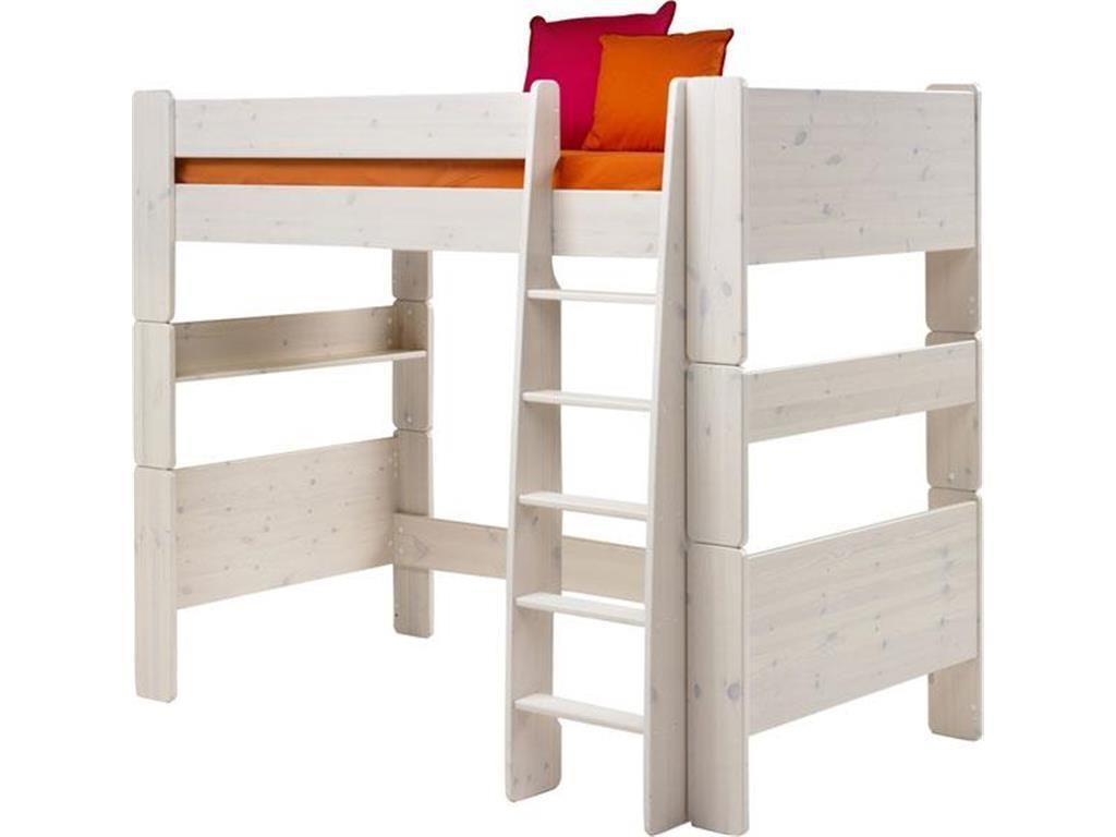 Steens Etagenbett Für Kinder : Steens for kids hochbett mit rolllattenrost und gerader leiter