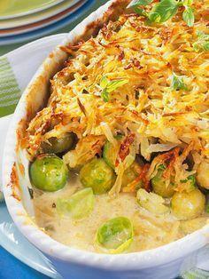Rosenkohl mit Kartoffelkruste #vegetariandish