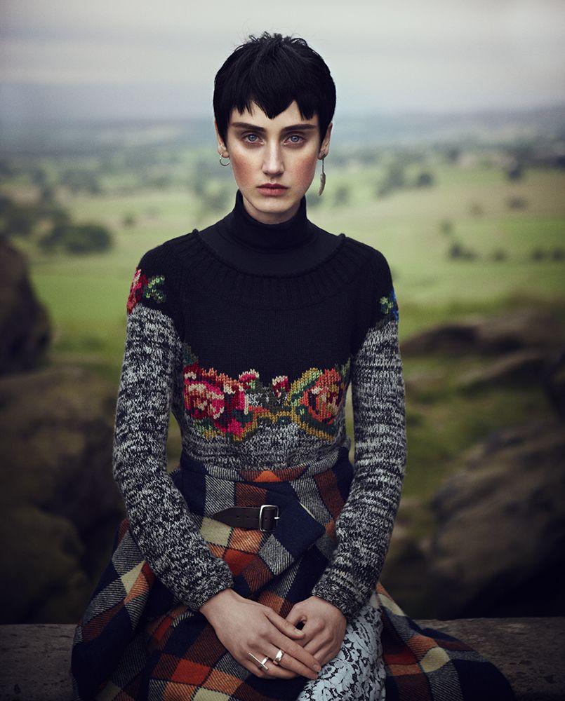 visual optimism; fashion editorials, shows, campaigns & more!: tweed: christina carey by dima hohlov for io donna october 2014