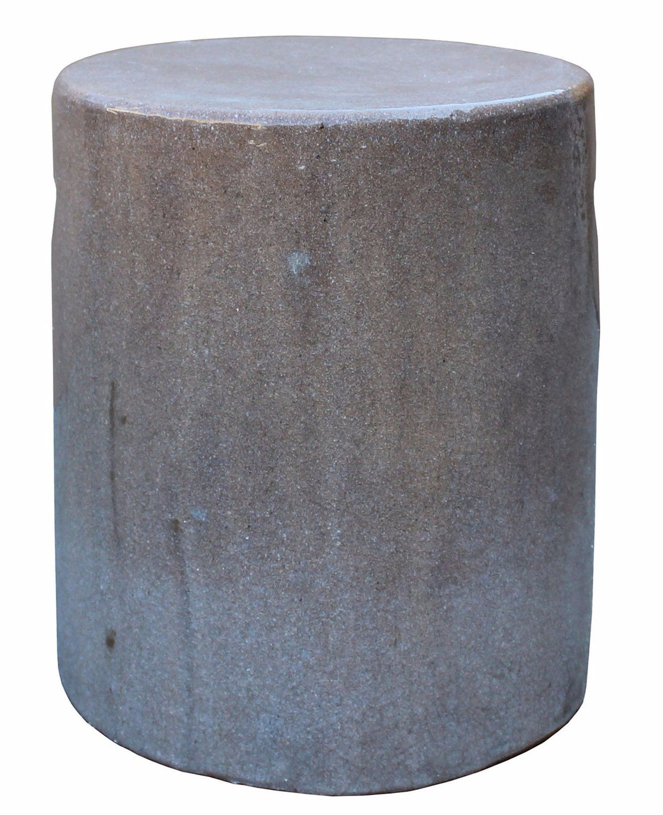 Sensational Chinese Ceramic Clay Mauve Beige Glaze Round Flat Column Beatyapartments Chair Design Images Beatyapartmentscom