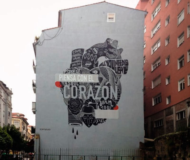 """""""Piensa con el corazón"""", Boa Mistura, Santander, España"""