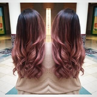 25 Best Hairstyle Ideas For Brown Hair With Highlights Dark Brown Hair With Pale Pink Ombre Hair Styles Balayage Hair Ombre Hair