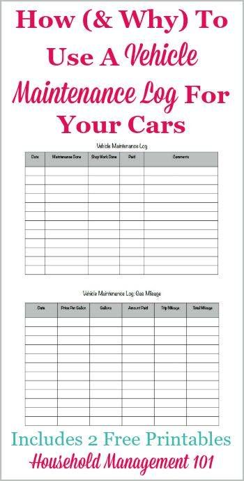 Free Printable Vehicle Maintenance Log Why You Should Have One In Your Car Vehicle Maintenance Log Cars Organization Car Maintenance