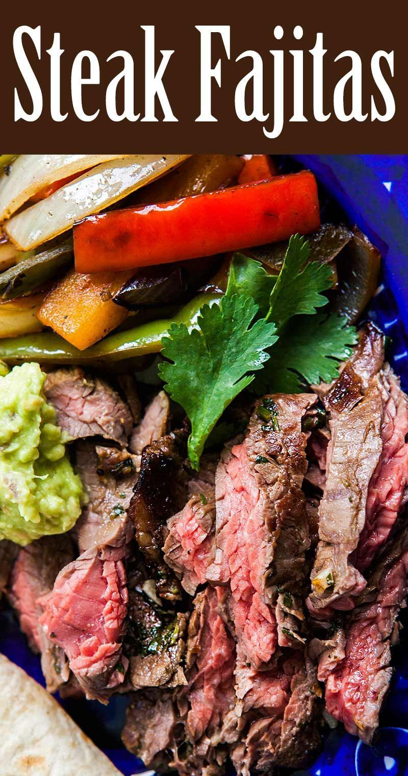 Beef Steak Fajitas #steakfajitarecipe Steak Fajitas! Classic Tex Mex fajitas recipe, made with strips of skirt steak, onions and bell peppers, and served sizzling hot with fresh tortillas, guacamole, sour cream, and salsa. On SimplyRecipes.com #dinner #1-pot #texmex #fajitas #steakfajitarecipe Beef Steak Fajitas #steakfajitarecipe Steak Fajitas! Classic Tex Mex fajitas recipe, made with strips of skirt steak, onions and bell peppers, and served sizzling hot with fresh tortillas, guacamole, sour #beeffajitarecipe