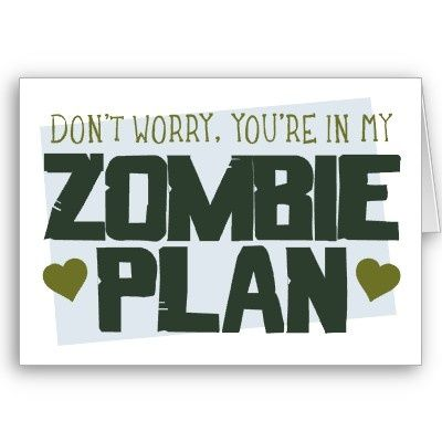 Feb 10th: Zombie Plan Valentine's Day Card.  What better way to show you care?