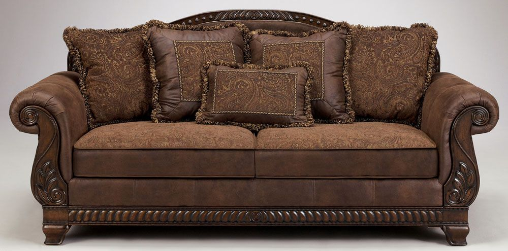 Ashley Furniture Sofa bradington truffle sofaashley furniture | tuscan old world