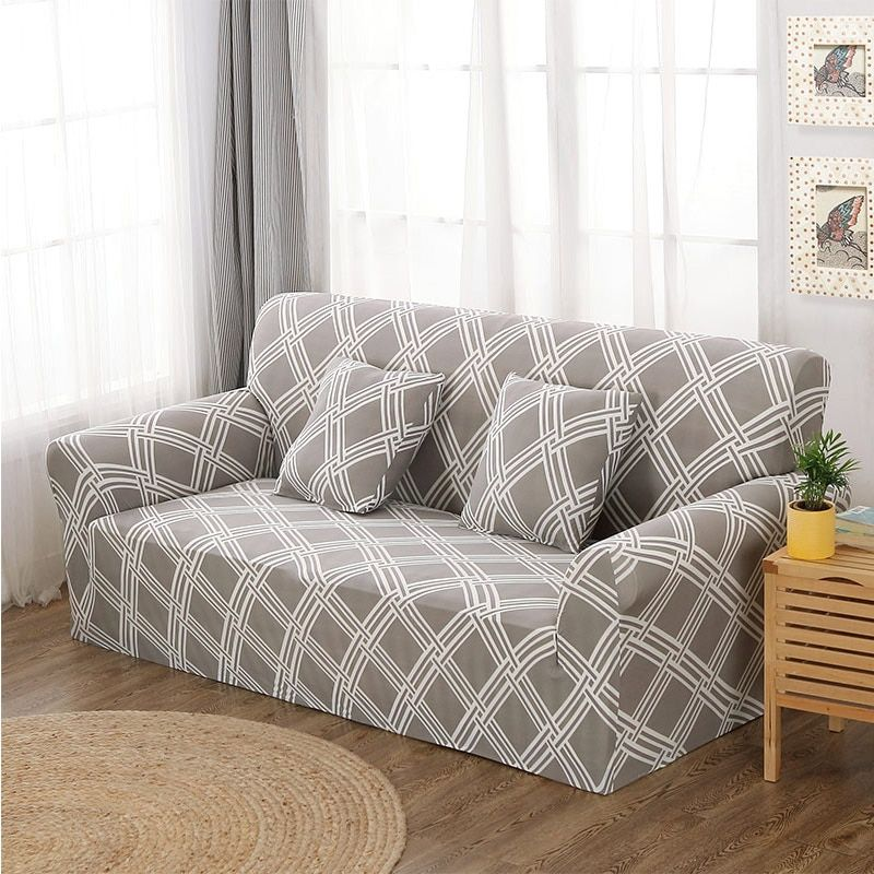 Inch 4 Seater Sofa Slipcover Fits Most Sofas Up To Back Length 235 To 300cm 92 To 118 Inch In 2020 Couch Covers Sofa Covers Corner Sofa Covers