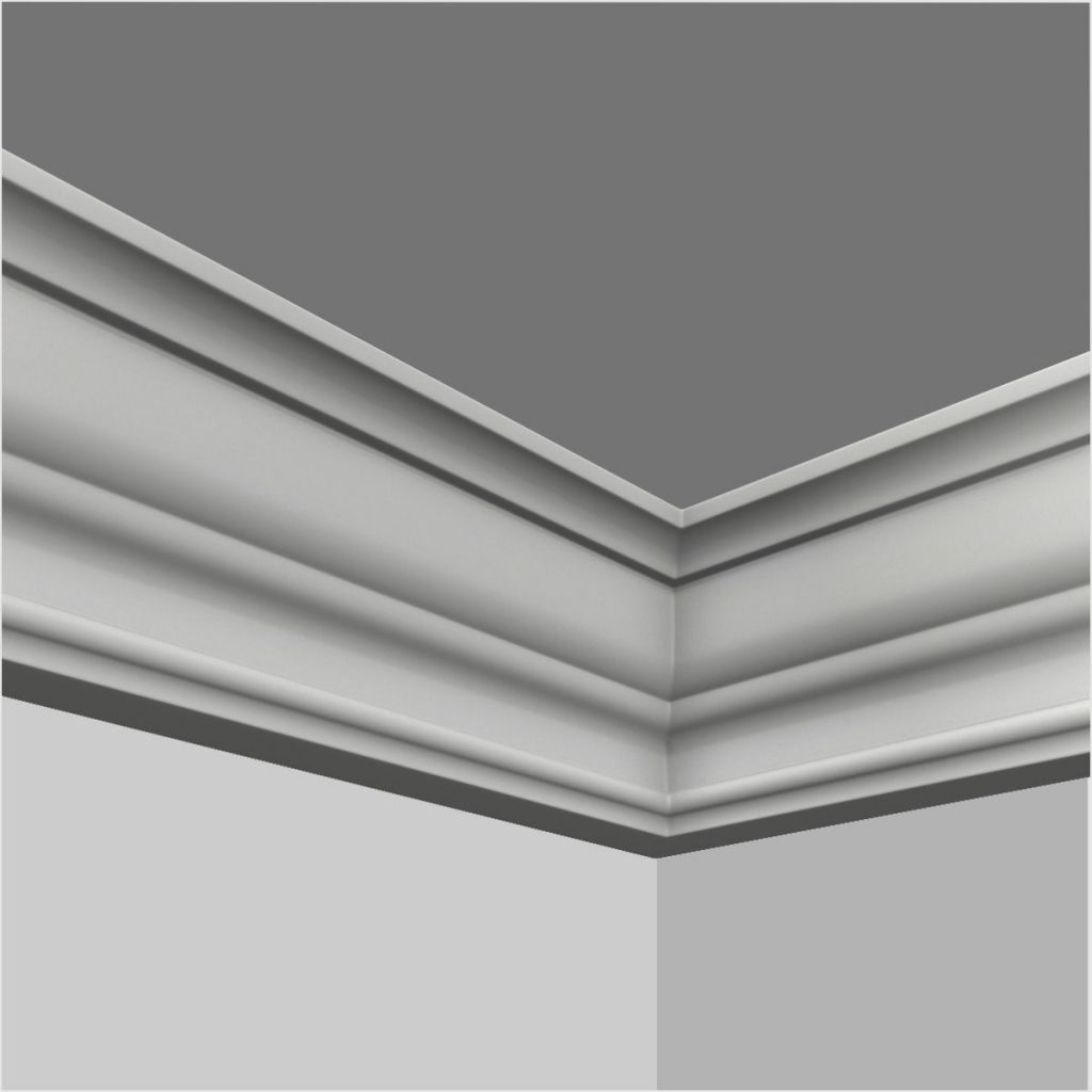 Polyurethane Plain Crown Moulding In