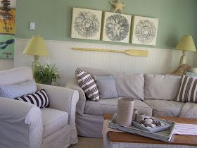 {Coastal Nest}: Dropcloth slipcover.....the chair edition..