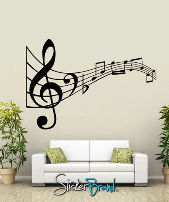 vinyl wall decal sticker music notes kriley125s | products in 2019