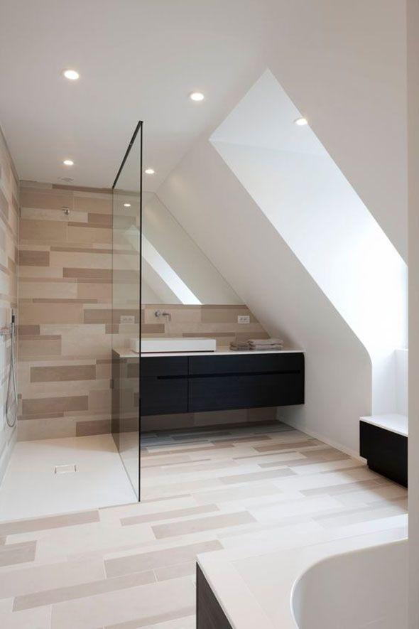 Badspiegel Passgenau In Die Dachschrage Integriert Ohne Beleuchtung