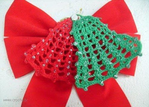 Como Fazer Sino De Natal Em Croche Crochet De Natal Padroes De