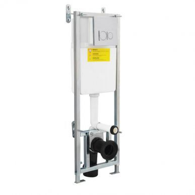 Concealed Cistern Wall Frame With Chrome Push Button Image 1 Frames On Wall Concealed Cistern Wall Hung Toilet