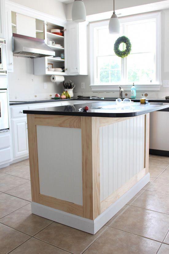 How to add beadboard to kitchen island #diykitchentable ...