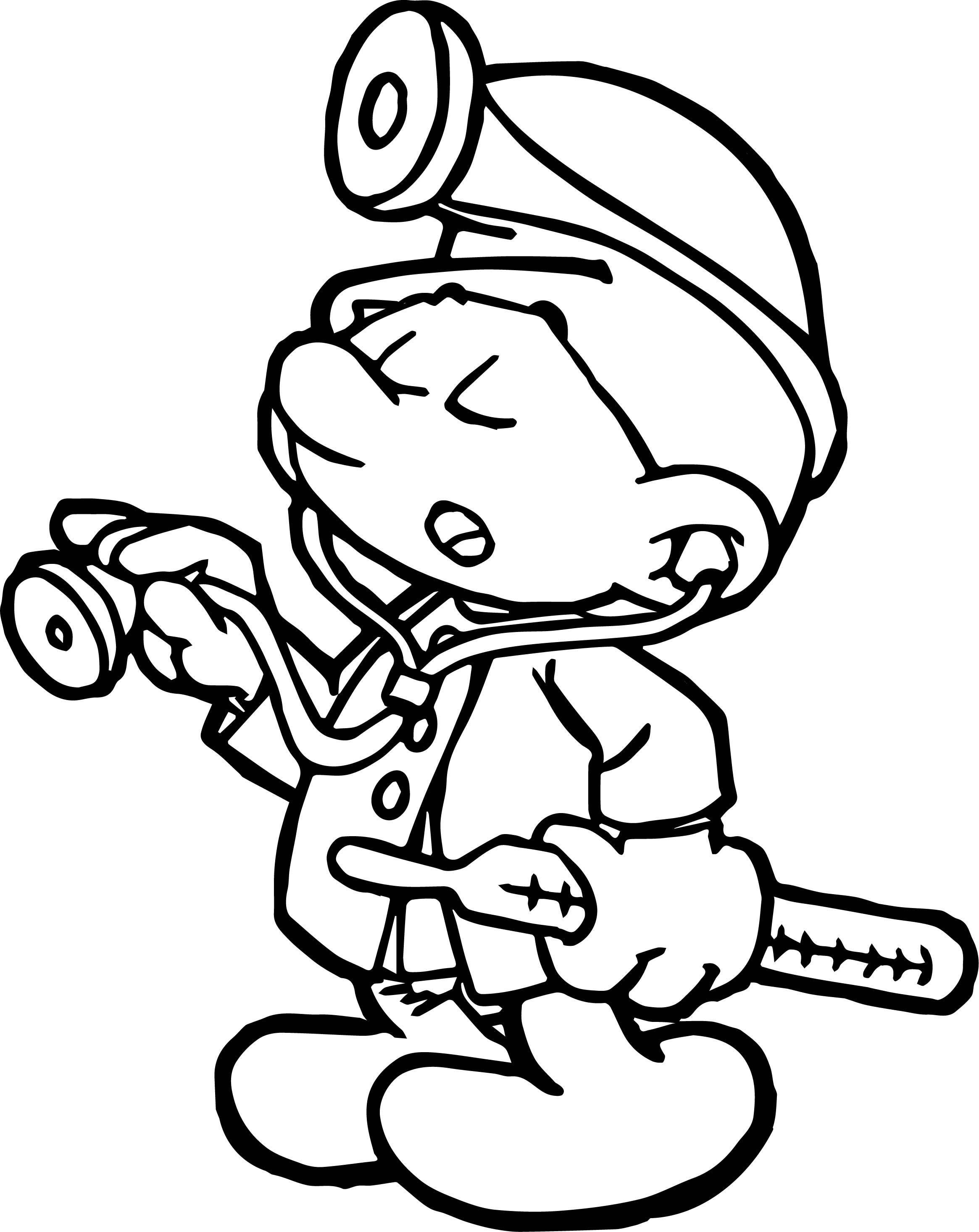 Encantador Papa Smurf Para Colorear Composición - Dibujos Para ...