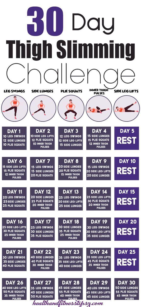 30 Day Thigh Slimming Challenge VIDEO INSIDE 30tägige Herausforderung zum Abnehmen der Oberschenkel VIDEO INSIDE  Kostenlose Gesundheitstipps