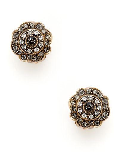 68ac2b650 Swarovski Crystal Flower Earrings by Azaara Vintage on Gilt.com ...