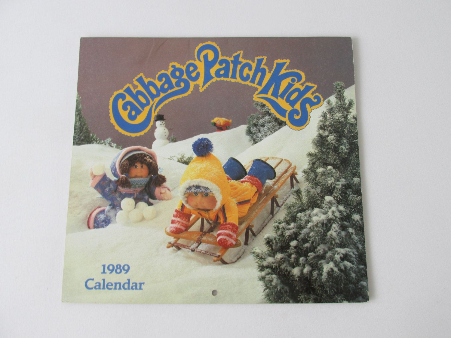 Vintage 80s Cabbage Patch Kids 1989 Calendar By Offsetcollective