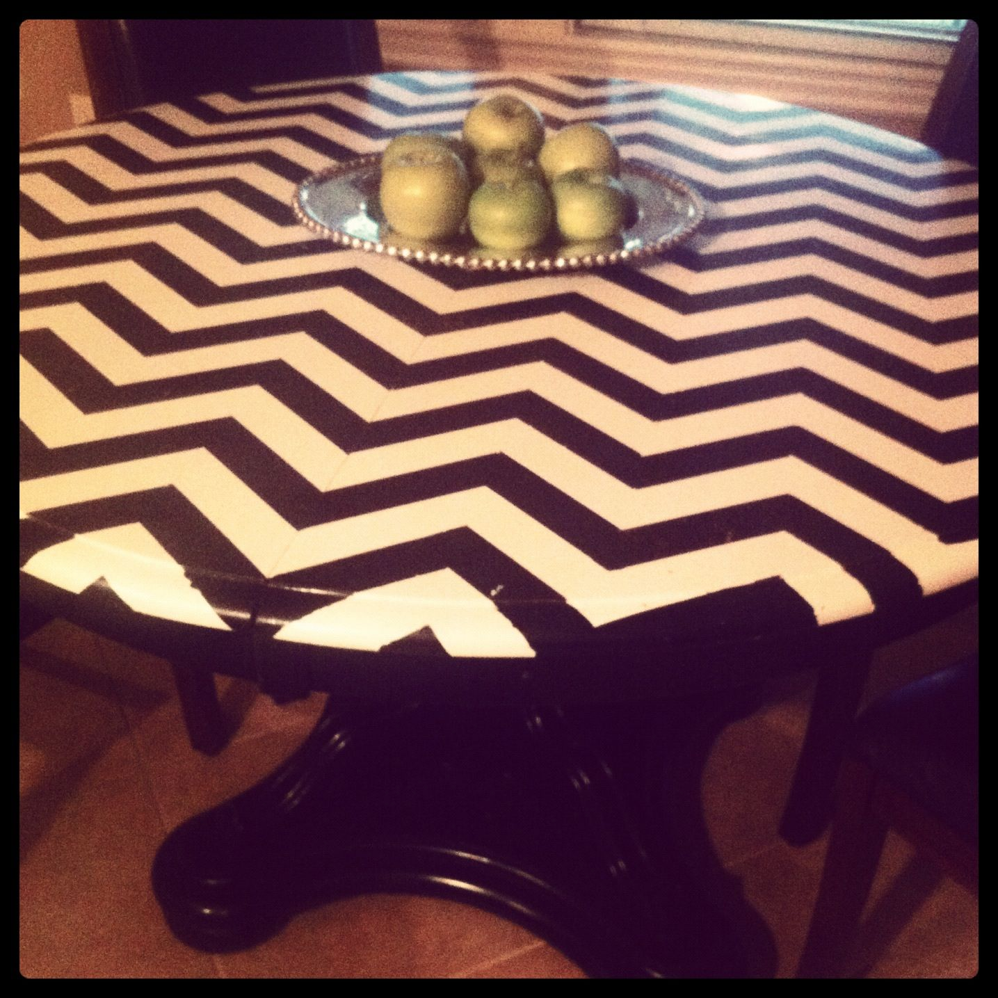 chevron painted furniture. Chevron Painted Table Top! Doing This With Danny And I.s Furniture