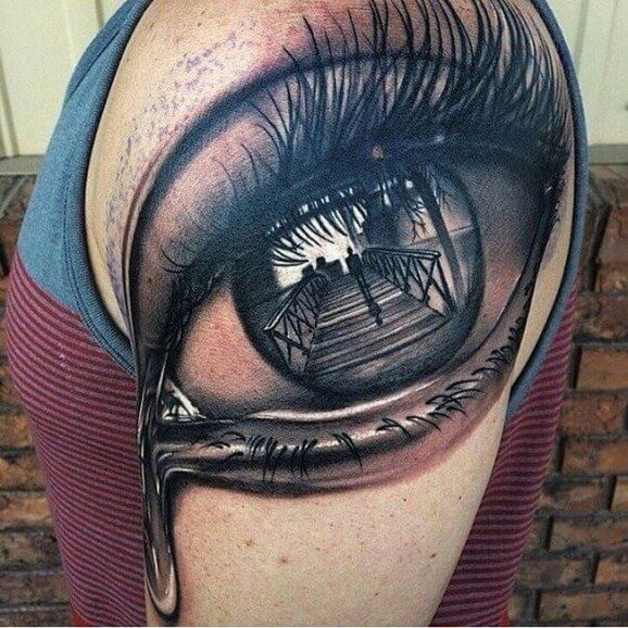 Eye crying blood tattoo top 10 unique crying tattoos for Crystal eye tattoos