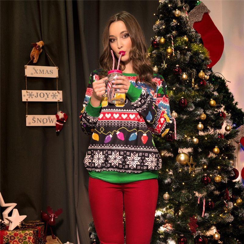 New Runway sweater 2018 Santa Claus Xmas Patterned Sweater