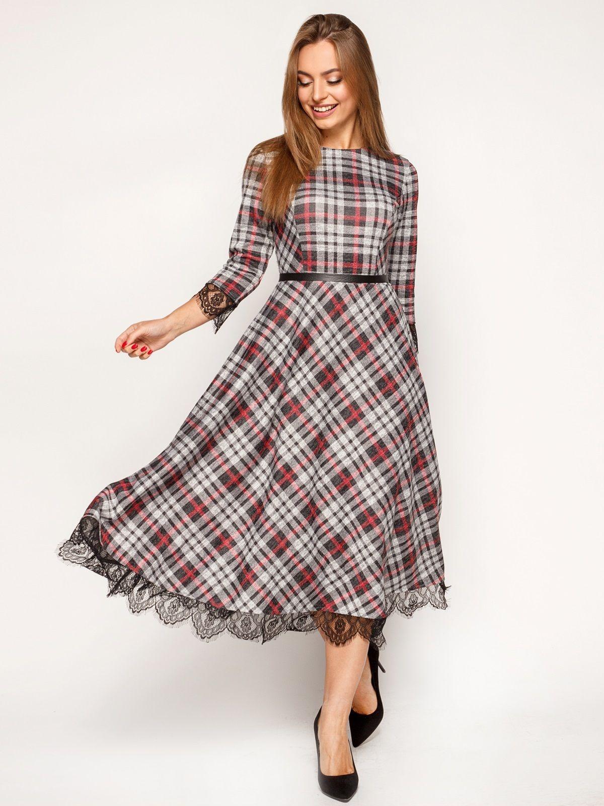 7229069c17fc1c8 Трикотажне плаття в клітку - 67483   goods ...ukr in 2019   Fashion ...
